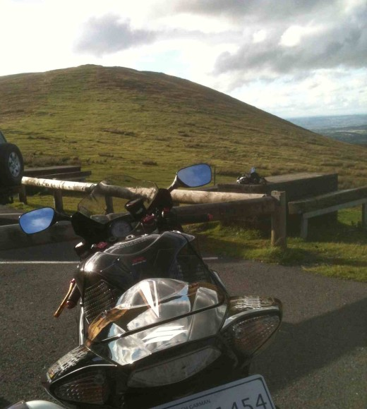 Vew up Slieve Bawn form the Nine Stones parking area