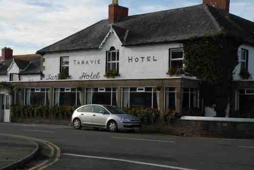 The Tara Vie Hotel, Courtown - a great place for a drink and a meal, with your friendly host Maureen. The curious name stems from the day when the 'W' dropped off and was never replaced - it has a view of Tara hill