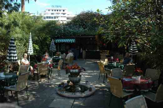 The patio of the Orchid Garden (Sitio Litro)
