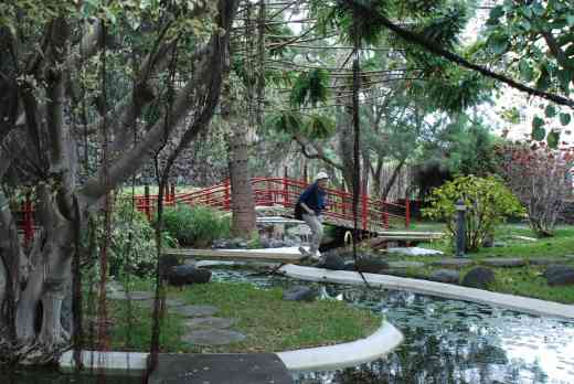 It is a garden with many different themes