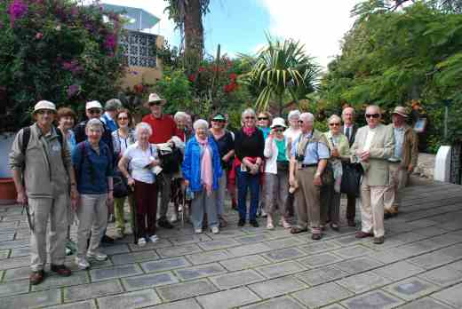 My favourite garden is the Sitio Litro - seen here with the group