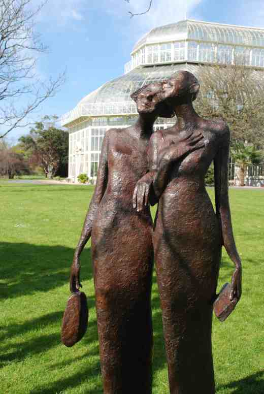 I am not a great fan of sculptors spoiling great gardens with their 'objets', though there are some exceptions. But this piece has such humour and vitality that I couldn't help but like it. 'Best Night Ever' by Bob Quinn