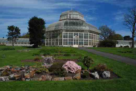 The Palm House from the Order Beds (Ericaceae in the foreground)