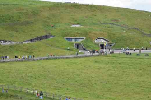 The visitor centre is almost invisible, hidden in the hill