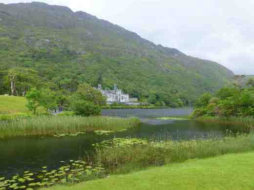 Kylemore Abbey on Lough Pollacappul, now occupied by Benedictine nuns