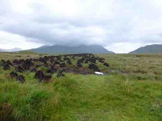 Peat (turf) cutting in Connemara