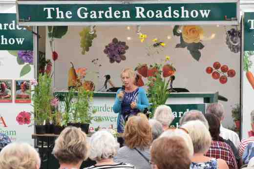 Carol Klein was, as ever, a great hit with the visitors and kept them all enthralled with her talk