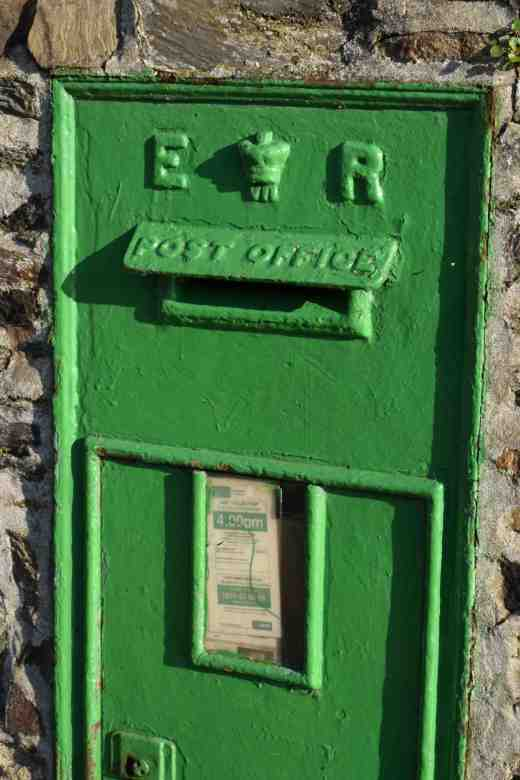 And there has to be a few odd sights - like this post box. Painted green it is obviously still in use - but 'ER'? That's very odd.