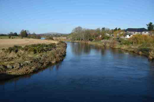 The Slaney, looking north, at Ballycarney