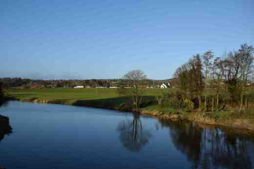 A calm Slaney looking north at Clohammon