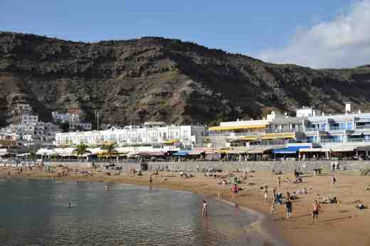 The beach at Puerto de Mogan