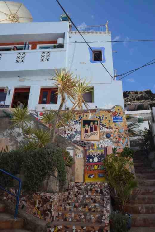 Up the steep streets at Puerto de Mogan