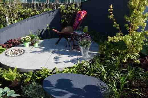 My Space was a garden designed by McGee Garden design and was a simple space with a central sitting area with a clever, integrated water feature