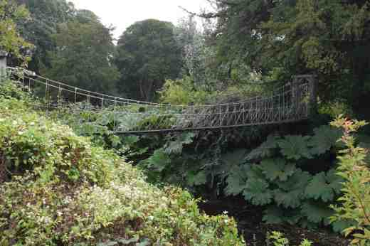 The gardens contain the oldest wrought iron bridge in Ireland, dating back to 1820, though I am not sure this is it!