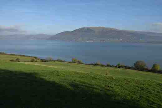 Looking at the mountains of Mourne from Carlingford