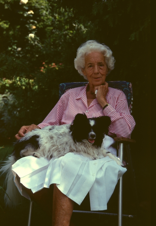Frances Perry and dog
