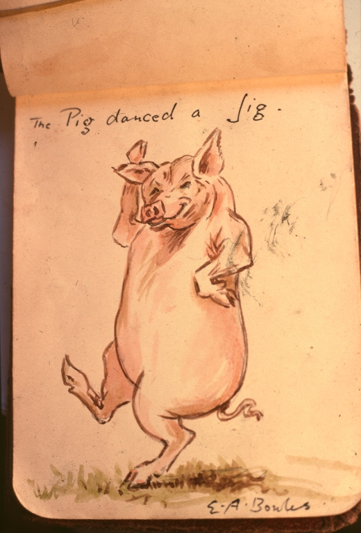 myddelton bowlws cartoon 1928 pig