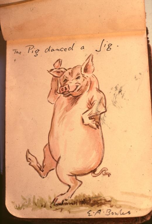 myddelton bowlws cartoon 1928 pig