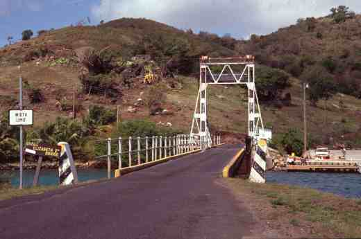 The Queen Elizabeth ll bridge that links to Beef Island where the airport is located